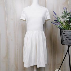 Calvin Klein White Eyelet Fit & Flare Dress